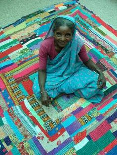 Kawandi: Siddi patchwork quilt from Karnataka - made by the descendants of African migrants and slaves in western India.