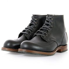 Red Wing | Beckman Wing Tip Black Boot | 09050 - Stuarts London