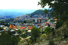 The town of Kessab, Syria. Kessab is a mostly Armenian-populated town in northwestern Syria, administratively part of the Latakia Governorate, located 59 kilometers north of Latakia. It is situated near the border with Turkey on the slope of Mount Aqraa, 800 meters above sea level