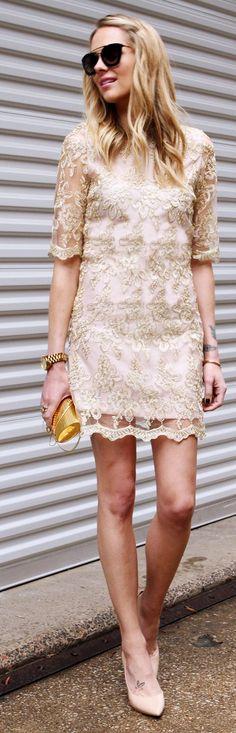 Gold Lace Inspiration Dress