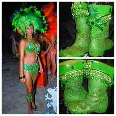 Lovin this Color, it soooo pretty Samba Shoes, Carnival Inspiration, Soca Music, Samba Costume, Port Of Spain, Caribbean Carnival, Bright Dress, Carnival Costumes, Mardi Gras