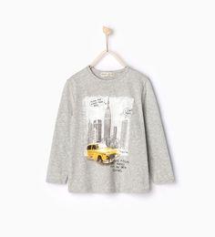 """Imagem 1 de T-shirt """"Táxi"""" da Zara"""