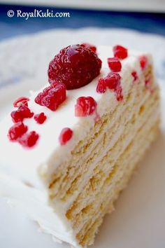 Bisküvili Kolay Yaş Pasta Labne ile hazırlanmış, sağlıklı ve hafif...