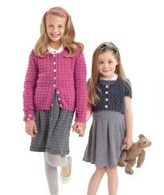 Girl's Cardigan, S7394 Free Pattern