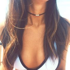 Thin black choker Super trendy and simple thin choker necklace with 3 silver beads. 4 links to tighten or loosen to your liking. Handmade layer it up and have some fun :) *Not FP. Cheaper on Ⓜ️ercari! Free People Jewelry Necklaces
