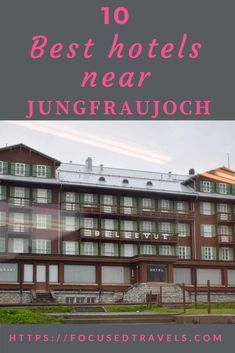 A visit to the Jungfraujoch or top of Europe is a must! Find out which hotels near the Jungfraujoch are the best for such a visit!. via @focusedtravels Jungfraujoch, Visit Switzerland, Quality Hotel, Beste Hotels, Steam Room, Double Room, Windsurfing, At The Hotel, Hotels Near
