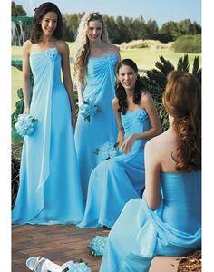 blue bridesmaid dresses for a wonderful beach wedding