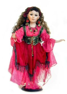 Gypsy doll in pink and red