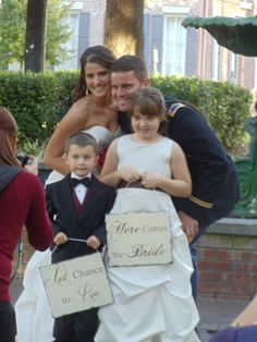 """This is so cute.......""""My funny surprise for my hubby to be, just moments before I came down the aisle"""""""