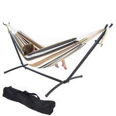 hammocks   sunnydaze cotton double brazilian hammock  u0026 stand  bos  u2013 oxeme home sunnydaze universal hammock stand  created for hammocks without      rh   pinterest