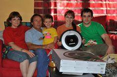 La familia de Catherina disfrutando de su merecido premio.