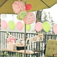 A Girly Pink and Green Baby Shower for Little Liv