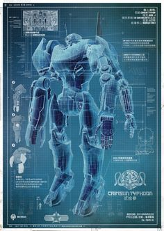 Another blueprint for one of Guillermo del Toro's giant fighting robots in Pacific Rim has found its way on the web.