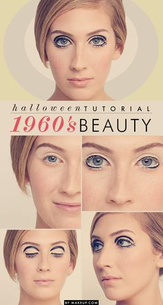 SO proud of this one! how to: 1960's mod makeup // Twiggy inspired Halloween costume!
