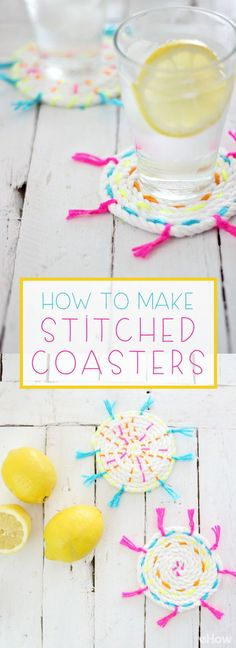 So cute! Stitched coasters are perfect for summer picnics and outdoor BBQs because of the light, colorful touch they add to any table. These can also make great hostess gifts! Get  the how-to here: http://www.ehow.com/ehow-crafts/blog/diy-stitched-coasters/?utm_source=pinterest.com&utm_medium=referral&utm_content=inline&utm_campaign=fanpage