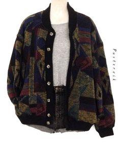 My True Vintage Knitted Blouson Winter Jacket Knit Wear Casual Oversized Az. - My True Vintage Knitted Blouson Winter Jacket Knit Wear Casual Oversized Azure – Source by - Retro Outfits, Mode Outfits, Grunge Outfits, Vintage Outfits, Fashion Outfits, 90s Grunge, Hipster Outfits, Vintage Wear, Vintage Hippie