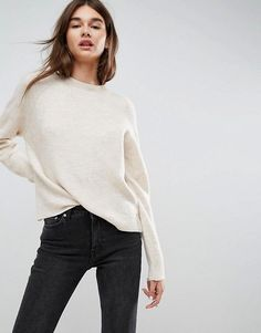 This is a great casual crew neck sweater for a great price from Asos! // http://rstyle.me/n/cu72zvcb5bp