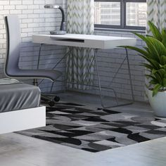Augustine Light Gray/Charcoal Area Rug