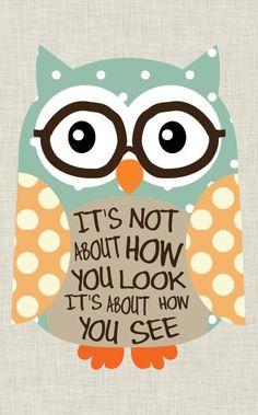 Tween Art Owl art Nerd Owl. Home Decor Inspirational by jmdesign, $20.00