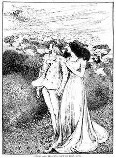 Art by Helen Stratton (c 1899) from FAIRY TALES OF...