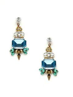 Multi-Shape Crystal Earrings by Tova on Gilt.com