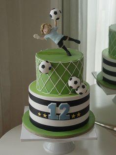 Soccer Cake, Soccer Party, Boys 1st Birthday Party Ideas, Birthday Cake Girls, Cupcake Cookies, Cupcakes, Football Birthday Cake, Panda Cakes, Cake Decorating Frosting
