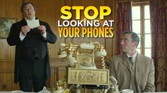"The Downton Abbey parody The Britishes applies modern smartphone etiquette to turn-of-the-century telephones in the latest episode ""Stop Looking at Your Phones."" The series is a joint production be..."