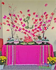 Festas com Gostinho de Infância: Borboletas Cor-de-Rosa / Pink Butterflies