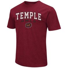 Temple Owls Colosseum Distressed Arch Over Logo T-Shirt - Garnet