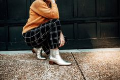 13 Reasons Why We Love Fall Street Style 2018, Street Style Edgy, Autumn Street Style, Autumn Fashion Casual, Fall Fashion Trends, Fall Trends, Fall Outfits 2018, Casual Fall Outfits, Plaid Pants Outfit
