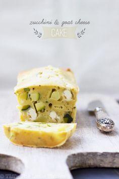 zucchini, olive and goat cheese cake