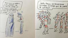 Joann Sfar a livré une série de croquis humoristiques sur Instagram en réaction au port de la kippa à Marseille.