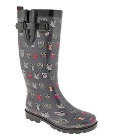 Take+a+look+at+the+Gray+Owl+Rain+Boot+on+#zulily+today!