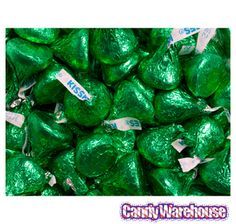 Just found Hershey's Kisses Dark Green Foiled Milk Chocolate Candy: Bag Thanks for the