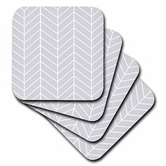 3dRose cst_179829_2 Light Grey Herringbone Gray Chevron Arrow Feather in spired Pattern Soft Coasters Set of 8 ** To view further for this item, visit the image link. (This is an affiliate link) #FurnitureBarCoasters