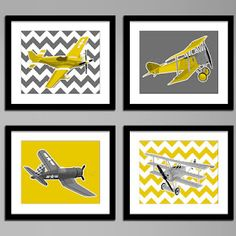 Airplane prints for boy bedroom  remake in red white and navy blue