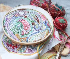 Paisley DIY Embroidery Sampler by dropcloth on Etsy https://www.etsy.com/listing/101885855/paisley-diy-embroidery-sampler