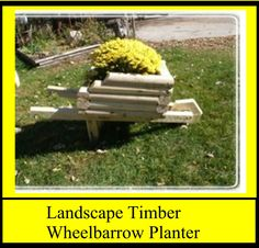 Landscape Timber Wheelbarrow Planter