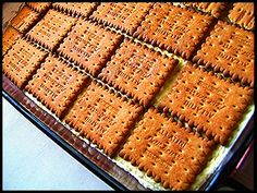 Greek Sweets, Greek Desserts, Cold Desserts, Party Desserts, Greek Recipes, No Bake Desserts, Cookbook Recipes, Sweets Recipes, Cake Recipes
