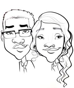 Classic Black and White Caricature by CaricaturesByOlivia on Etsy