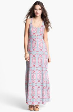 Fire Lace Back Maxi Dress (Juniors) available at #Nordstrom