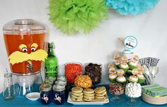 Throw a lorax bday party.  All things Dr. Suess