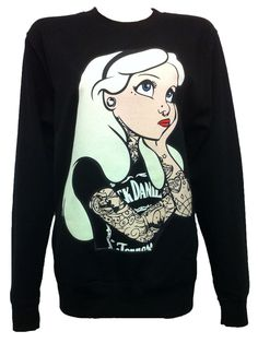 Punk Disney Alice In Wonderland Jumper...I have this same pic as a phone cover! Love it!!