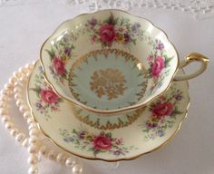 Floral Paragon China Tea Cup & Saucer  by TheEclecticAvenue