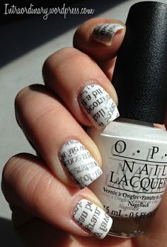 Newspaper by intraordinary. I love these for some reason! Unique! ♡ #nails #nailart