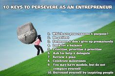10 keys to persevere as an entrepreneur