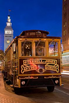 ~Cable Car with Ferry Building ~ San Francisco, California~