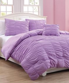 This Purple Mandy Mini Comforter Set by S.L. Home Fashions is perfect! #zulilyfinds
