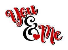 YOU & ME VINYL Decal * Valentines Day * Wedding * Wall Decal * Window Decal * Love * Valentine * Romantic * Car Decal * Coffee Mug * Yeti by ATIMETOCUT on Etsy