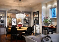 Built-in idea for my dining room?  love the moodiness of this room